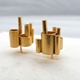 Metropolis Gold Stud Earrings