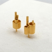 Microtropolis gold earrings