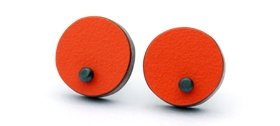 Emily Kidson - orange dot studs