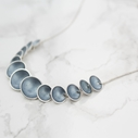 Enamel Link Necklace - Ice Blue