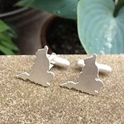 England Outline Cufflinks