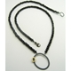 enso onyx oxi gold necklace