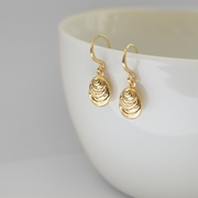 Gold Vermeil Ripple earrings