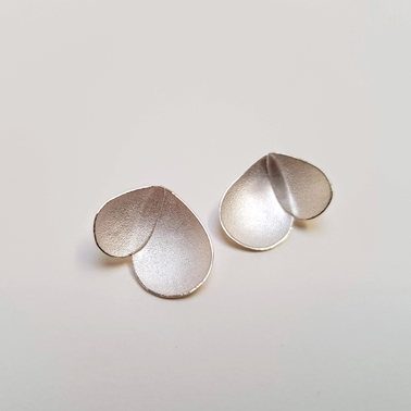 Eucalyptus petal earrings