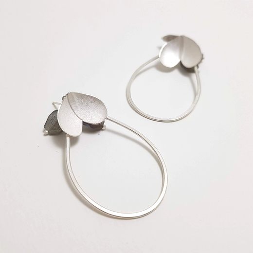Eucalyptus cluster loop earrings