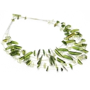 Green six strand fragment & shard necklace