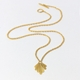 Fan pendant. Gold vermeil