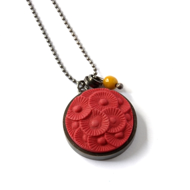 Large button pendant