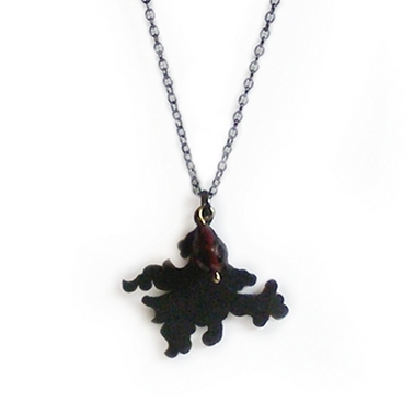 Fancy Silhouette Pendant with Garnet