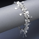 Blossom wire bracelet, polished