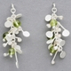 Blossom wire stud earrings with peridot, satin