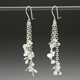Blossom long drop daisy chain earrings, satin