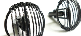 Black Stripe Cufflinks by Stacey Bentley
