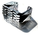 Black fern square cuff