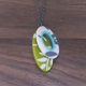fern oval pendants necklace