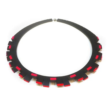 Festival Necklace - Black & Red