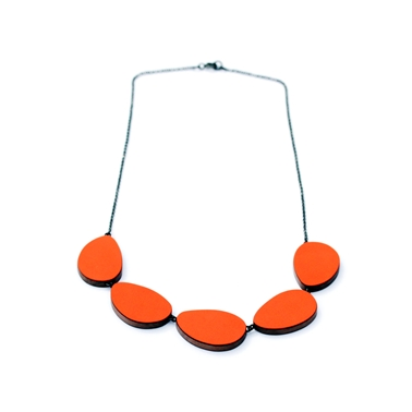 five part curve necklace 1