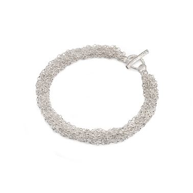 French Knitted Belcher Chain Bracelet