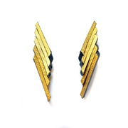 Flight Earrings - Black & Gold