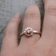 Floral wreath 9ct rose gold ring-2