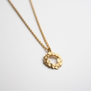Floral wreath Silver gold-plated Necklace-1