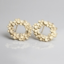 Floral wreath gold-plated Earrings-1