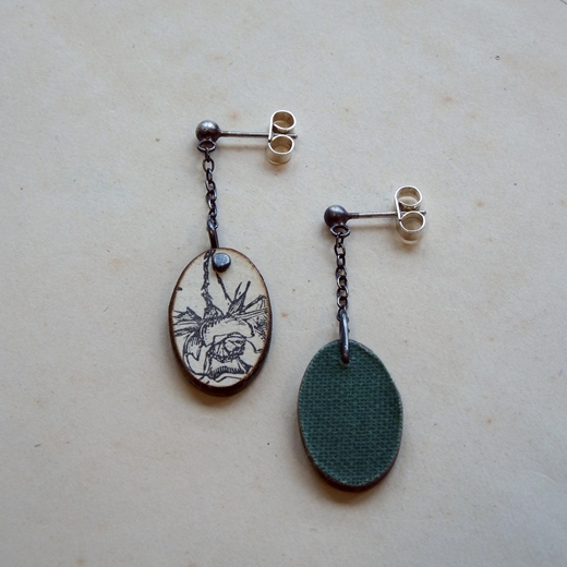 Day Long Drop Earrings Reverse