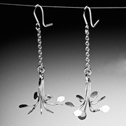 Flowerburst long dangling earrings