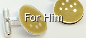 For Him - cufflinks by Carline Finlay