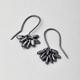 Silver Pompom earring