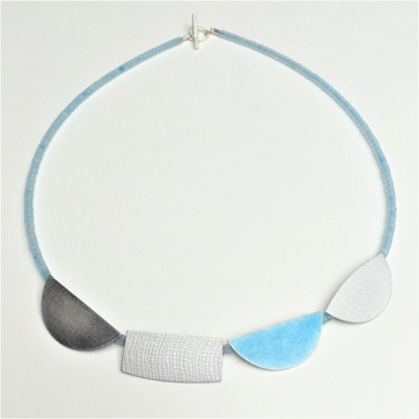 light turquoise four shape necklace