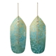 Flight drop earrings blue on sage