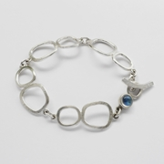 Freeform links moonstone bracelet
