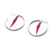 Cerise Small Hoop Earrings