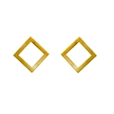 Geom Stud Earrings Gold Vermeil