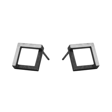 Geom Stud Earrings Oxidised