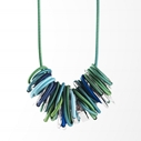 Ombre Green and Blue Coil Necklace