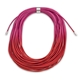 Ombre  Cerise and Ruby Coil Necklace
