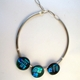 Blue/Turquoise 3-discs Necklace