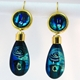 Blue/Turquoise Drop Earrings