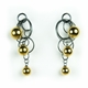 Gold Triple Bubble Earrings