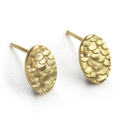 Catkin Stud Earrings in Gold