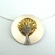Gold dome tree pendant (with leaves)