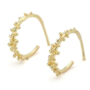 Gold Granulated Hoops