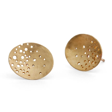 9ct gold oval earrings