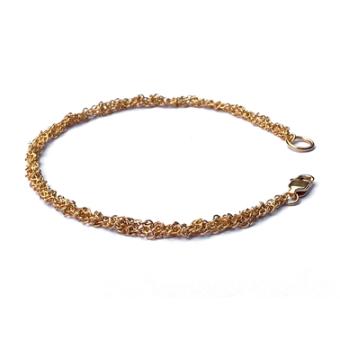 Gold Plated Crochet Chain Bracelet