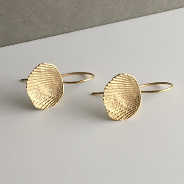 Imprint Venus earrings with gold vermeil