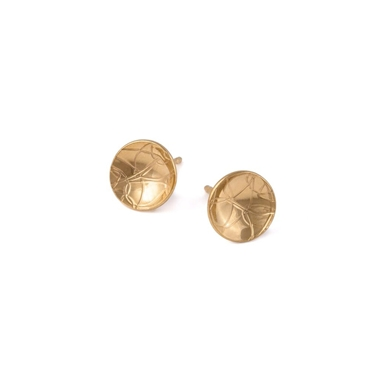 Gold Plated Domed Circle Studs