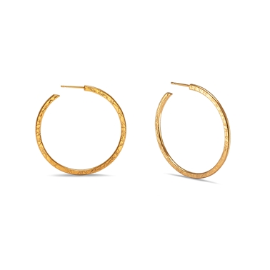 Medium Hoops - Gold Plated