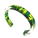 Green & Yellow Madder | Slim Cuff | Recycled Perspex